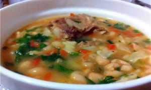 Как готовить фасолевый суп с мясом