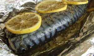 Рецепт скумбрия в фольге