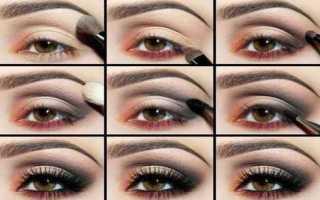 Техника нанесения макияжа глаз пошагово